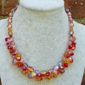 Jewelry - Multi color crystal beaded necklace